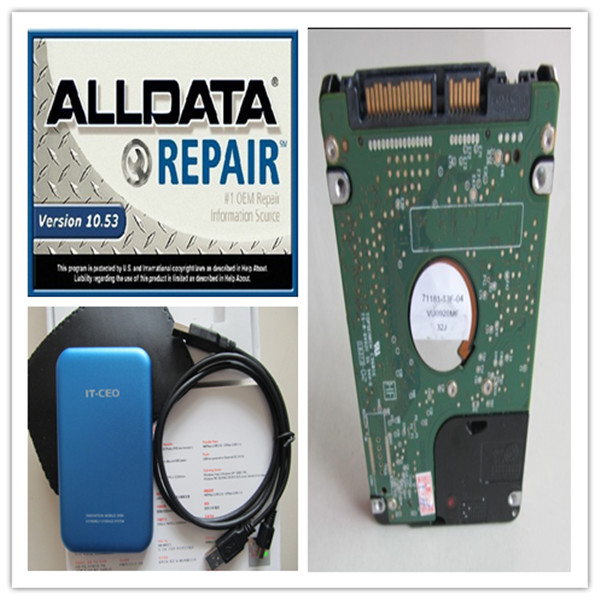 2017 Top-Rated newest alldata software 10.53 mitchell on demand 2015 vivid workshop 3 softwares in 1tb hdd for all cars