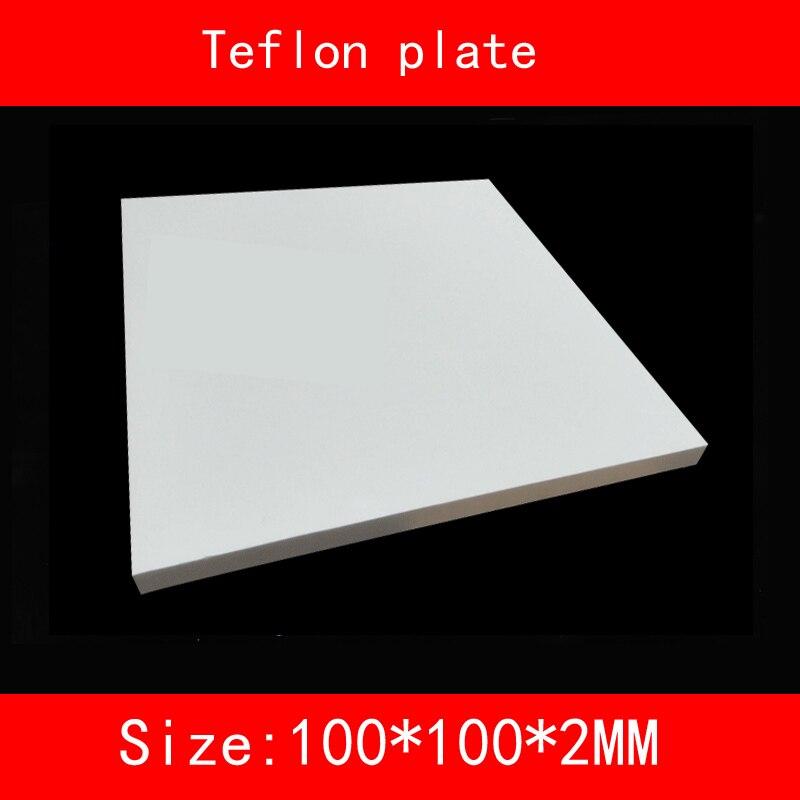 2 pcs tamanho 100*100*2mm placa de Teflon resistência de alta-temperatura de trabalho (grau Celsius entre-200 e + 260) folha de PTFE