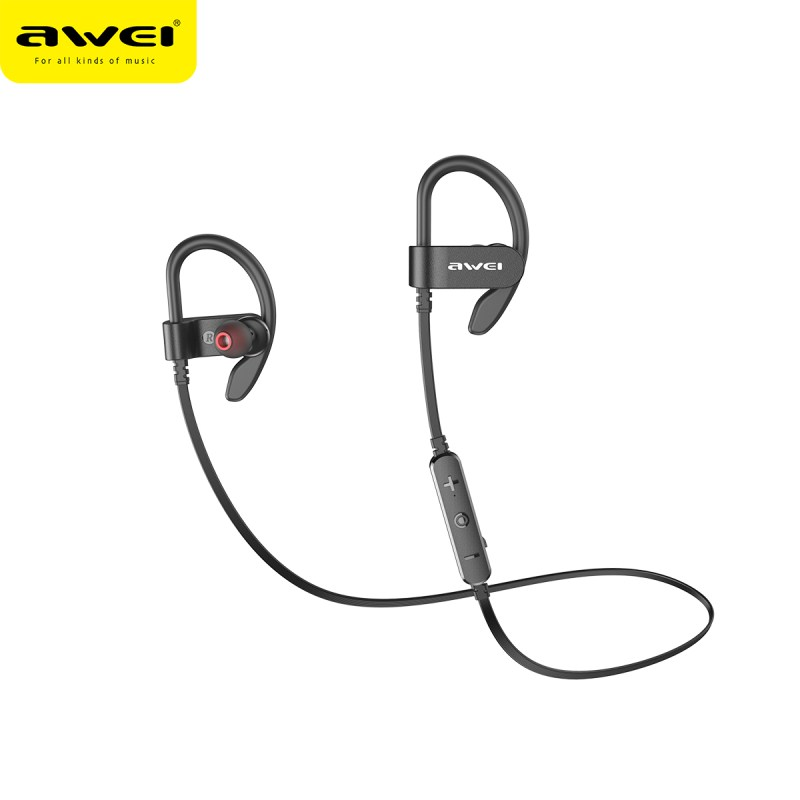 Awei WT50 Sport Bluetooth Wireless Earphones Long Battery Life IPX4 Earphones HiFi Stereo Sound Noise Reduction Earbuds with Mic(China)