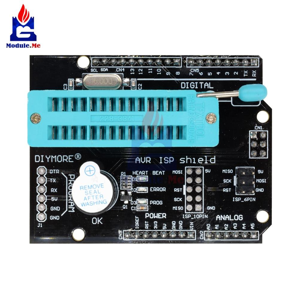 Avr Isp Programmable Expansion Shield Board Module For Arduino Uno Atmel Usb Programmer Circuit Zif Socket Usbasp Atmega8 2 020082