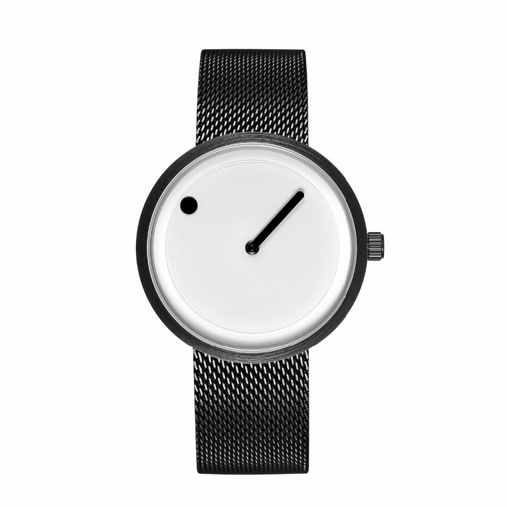 2018 Minimalist Style Creative Wristwatches Black & White New Design Simple Stylish Quartz Fashion Watches Gift Relogio Feminino