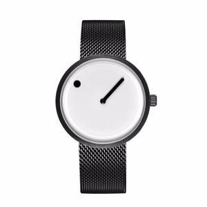2018 Minimalist style creative wristwatches black & white new design simple stylish quartz fashion watches gift Relogio Feminino(China)