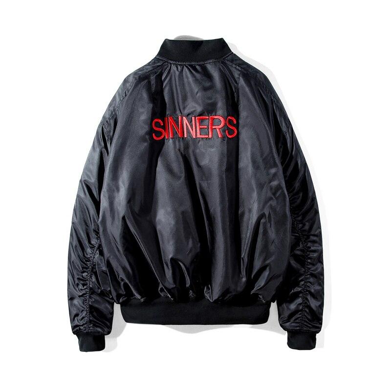 2018 hiver Style Xieruis rouge pécheurs broderie femmes hommes Ma1 Bomber vestes manteaux Hiphop Streetwear hommes surdimensionné Bomber veste