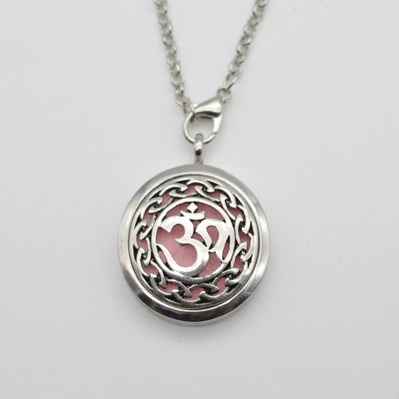 1pcs DIY 3D Moola Aromatherapy Lockets Jewellery Aum Om Magns