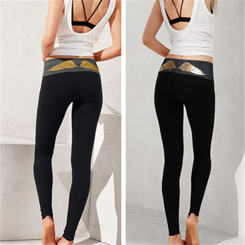 Women Sex High Waist Stretched Sports Pants Gym Clothes -9432