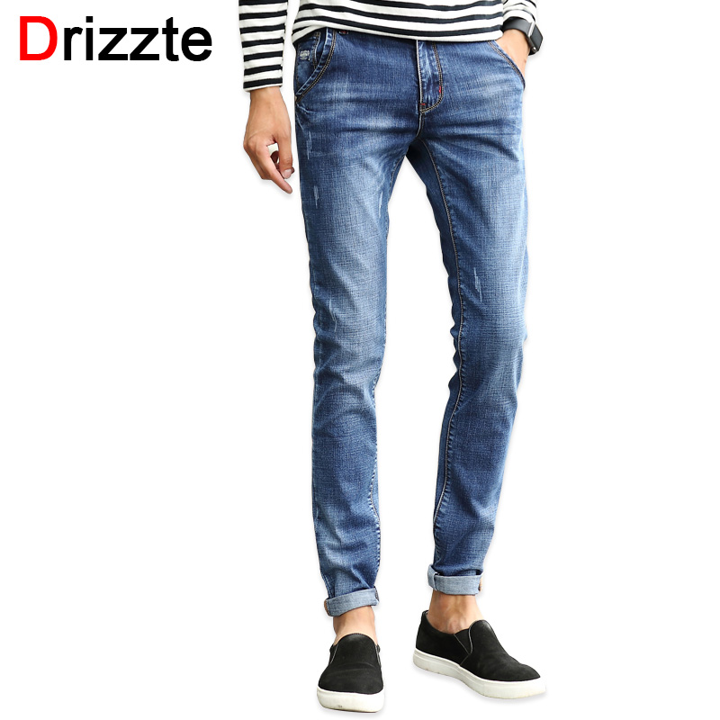 ФОТО Drizzte Mens Designer Stretch Denim Jeans for Men Slim Jeans Pants Trousers for Men 28-35-38
