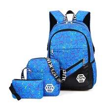 Litthing 2019 Three-piece Multifunction Korean Version Backpack Waterproof  Printing Casual Travel