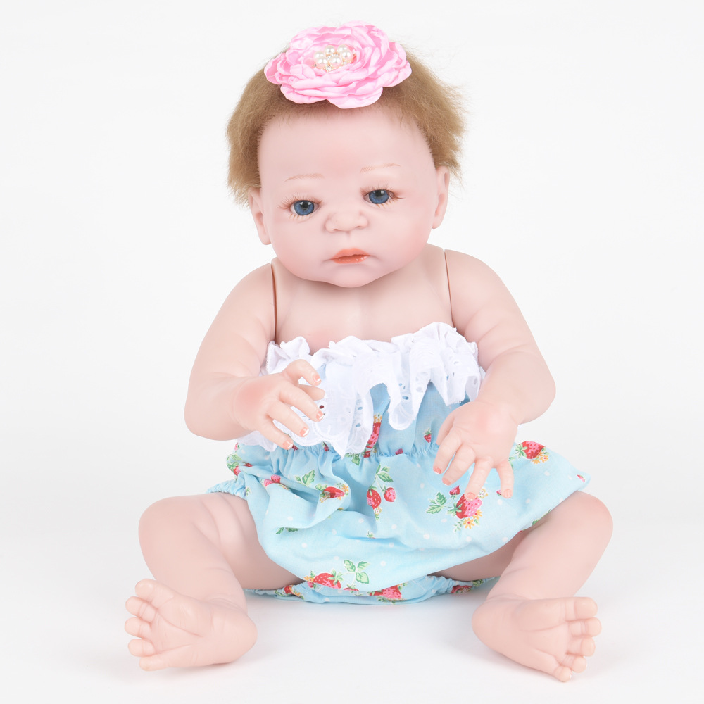 22 Inch Soft Full Silicone Reborn Baby Doll Realistic Newborn Princess Girl Dolls for Children Toy Birthday Xmas New Year Gift 22 inch 55 cm silicone baby reborn dolls lifelike doll newborn toy girl gift for children birthday xmas