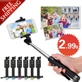 Universal mini wired selfie stick cable extensible trípode monopod para iphone samsung plegable auto stick galaxy xiaomi android