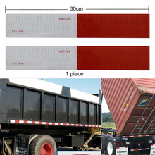 10 pieces Car Reflective Stickers Warning Strip Reflective Truck Auto supplies Night Driving Safety Secure Red White Sticker