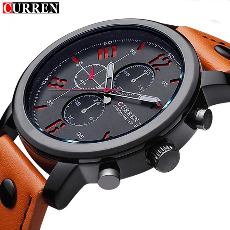 Prix pour 2017 curren hommes montres top marque de luxe célèbre montres hommes horloge hodinky hommes sport mâle curren quartz-montre relogio masculino