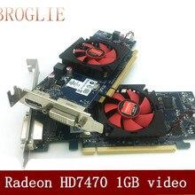 AMD HD7470 1G независимая видеокарта поддерживает 4K небольшой чехол для офисной видеокарты
