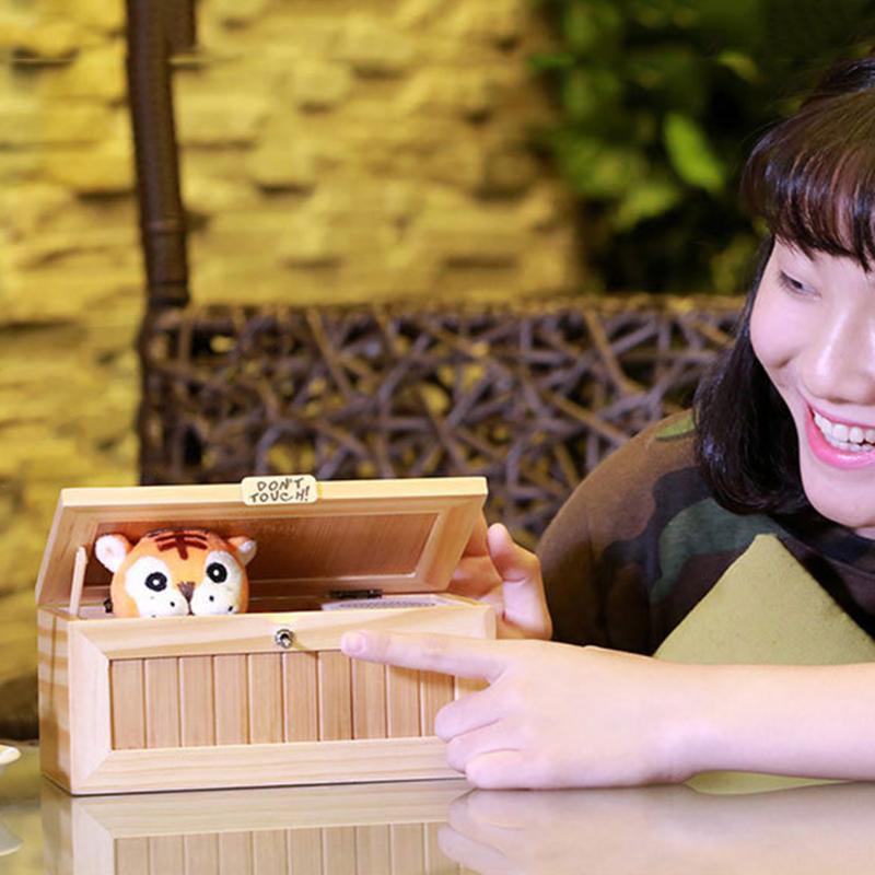 Bande dessinée Drôle Tigre Tricky Drôle Jouets Mini Électronique Nul Box Surprise Blague Anti Stress Nul Box Avec Son Nouveauté Jouets - 2