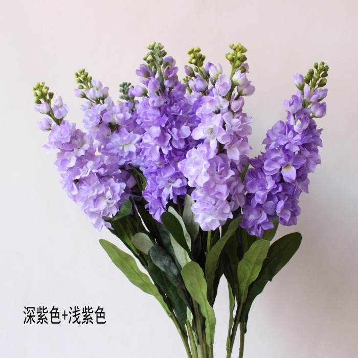 Purple Silk Violet Flower Faux Fabric Orchid Home Party Wedding Decoration Artificial Flowers Arrangements Free Shipping In Dried From