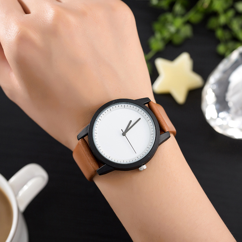 BGG brand students Dress Watch Minimalist Style male Quartz Wristwatch Leather Strap Women men Fashion Casual Clock hour relojes ...
