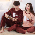 Mens Pajamas Full Pajamas New Hot Style Men And Women Lovers Long Sleeve Han Edition Of 2016 Autumn Winters Leisurewear Suit