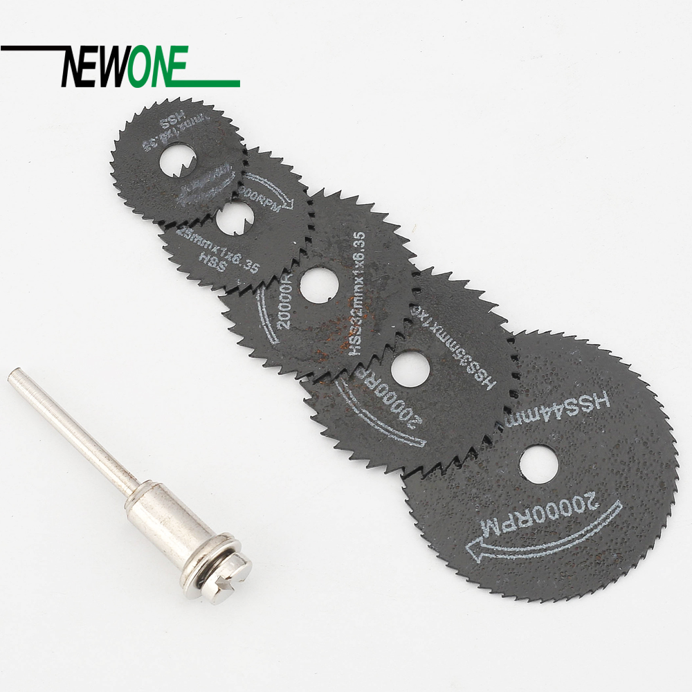 5Pcs HSS Saw Blades For Metal Dremel Rotary Tool Cutting Discs Wheel + 1 Mandrel For Proxxon Dremel Rotary Tools 4115 34 1 10mm 6t m42 metal band saw blades 4115 34 1 1mm band saw blade 4115mm saw blades for cutting metal 4 6tooth 25 4mm 1pc