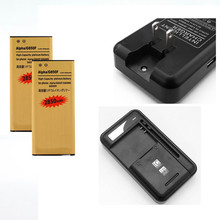 3.85V 2x 2850 mAh Replacement Battery +1x Desktop Travel Home Charger For Samsung Galaxy Alpha G850F