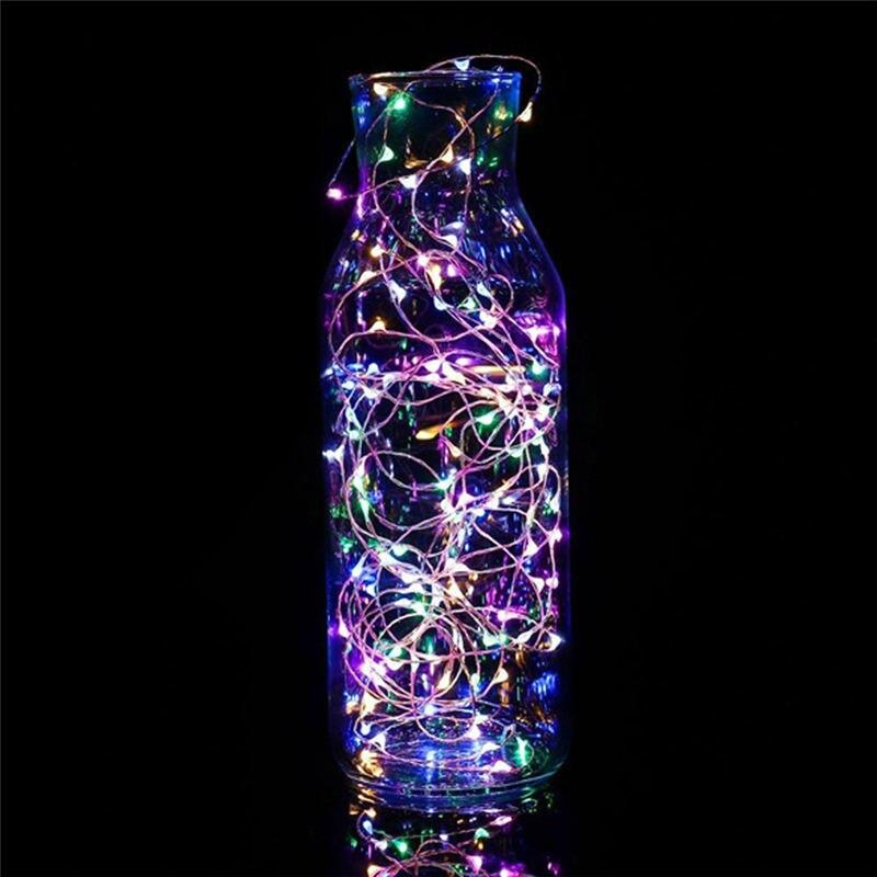 1 м гирлянда Сказочный светильник 10 светодиодный на батарейках Рождественский светильник s вечерние свадебные лампы настенные наклейки для детской комнаты странные вещи - Цвет: multicolor