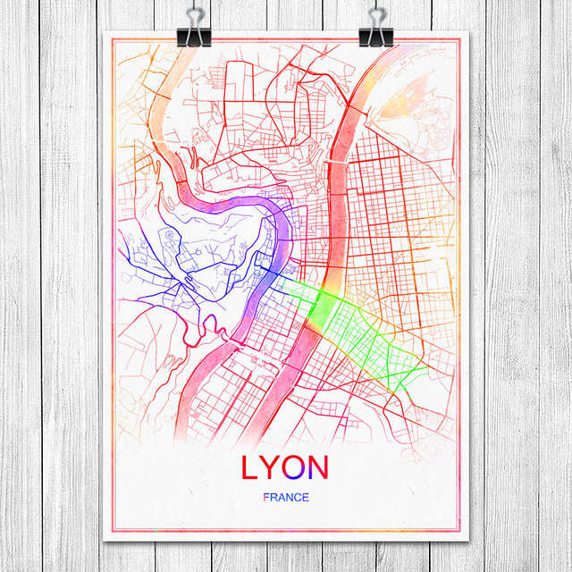 Online Shop Famous Colorful World City Map Madrid Spain Print Poster