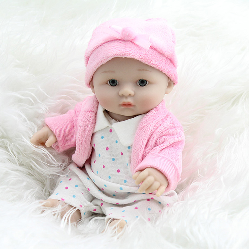 23cm Mini new born baby doll full body silicone reborn baby dolls girl Lifelike Doll 4 kinds doll toys Gift Princess baby born