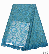 Hot Sale Nigeria Lace Fabric High Quality French For Wedding Dress African Women 164