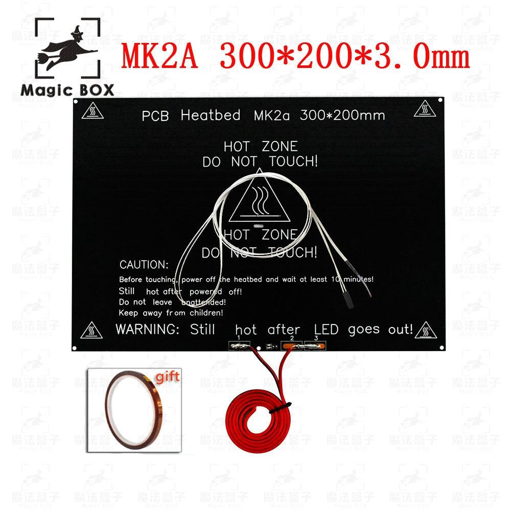 MK2A 300*200*3.0mm RepRap RAMPS 1.4 PCB PCB Heatbed + LED Resistor + Cable + Thermistors for 3D Printer parts MK2B hv320wxc 100 x pcb x0 0 47 600333a lcd pcb parts