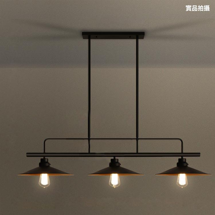 Loft industrial retro mesa de jantar lâmpada pingente de três finais tampa pote mesa de bilhar mesa de bar sala de jantar lâmpada pingente de ferro