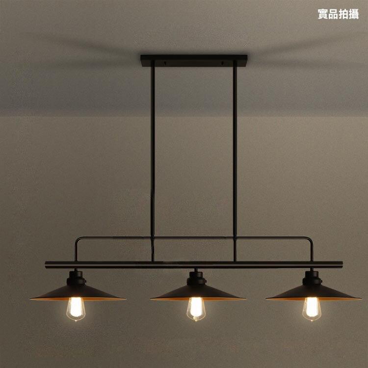 Loft rétro industriel table à manger suspension lampe trois fin pot cache bar salle à manger billard table fer suspension lampe