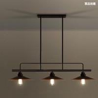 loft retro industrial dining table pendant lamp three end pot cover bar dining room billiard table iron pendant lamp