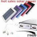 Alta 2015 bateria externa batería Nuevo cargador solar Solar Power Bank 12000 mah powerbank para GPS MP3 PDA Móvil teléfono