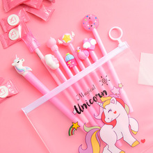 10 Pcs Gel Pen Caneta Kawaii Uniclorn Cute Pens For School Lapices Tinta Stylo Licorne Korean Boligrafo Unicornio Dropshipping 4 pcs set gel pen cat caneta kawaii pens for school animal stationary canetas school supplies lapices tinta gel stylo