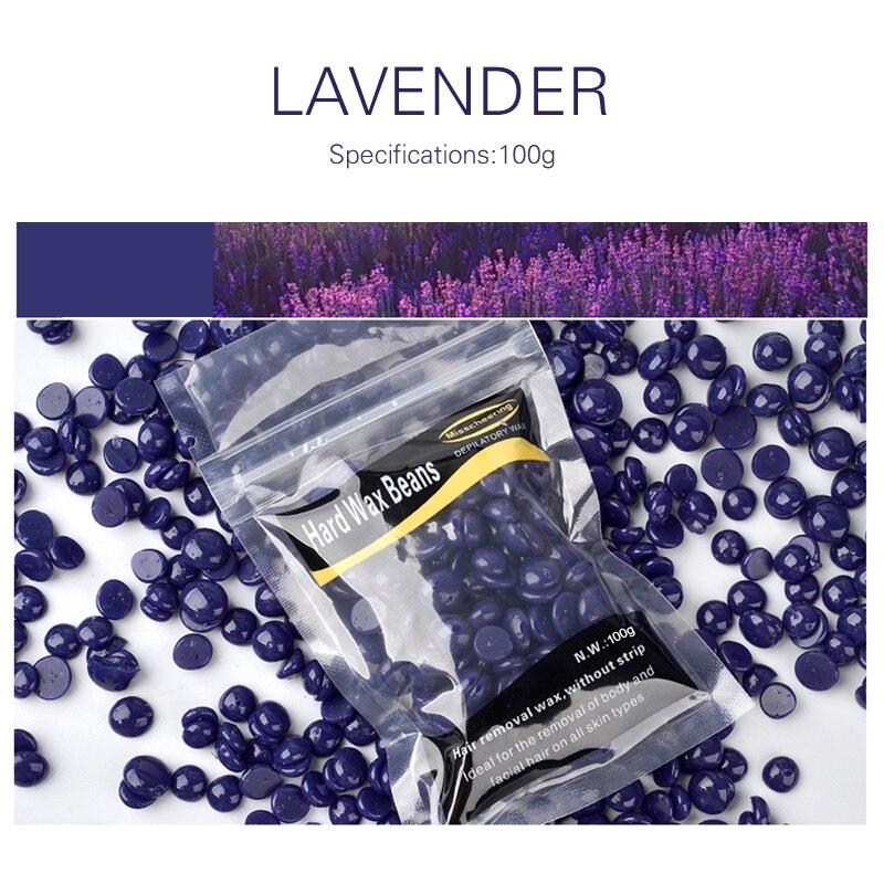 Professionelle Lavendel Geschmack Schmerzlos Wachs Bohnen Enthaarung Wachs Heißer Film Harte Wachs Für Männlich Weiblich Für Alle Arten Von Haut Tslm2