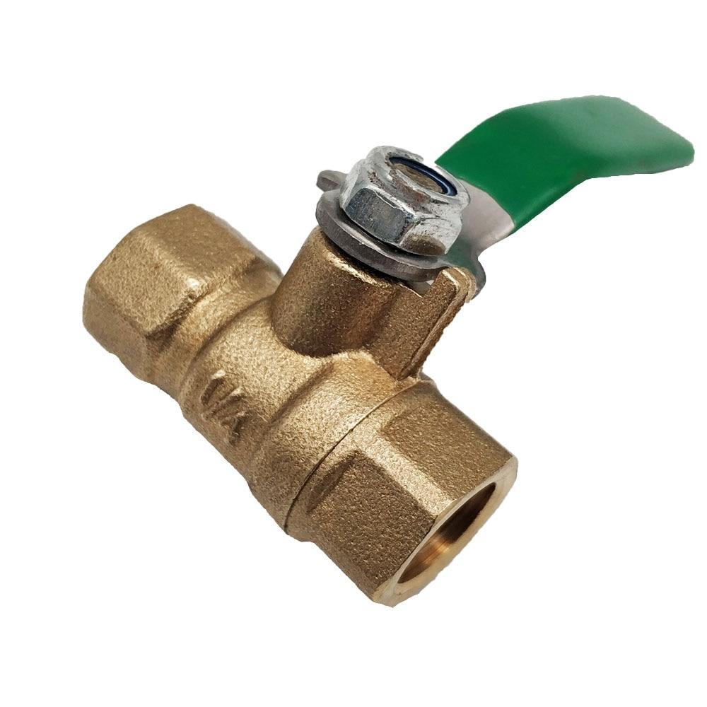 MENSI LPG Gas Appliance Parts Pipe Line High Pressure Brass Control Valve 1/4 Ball Copper Valves 5PCS/lot