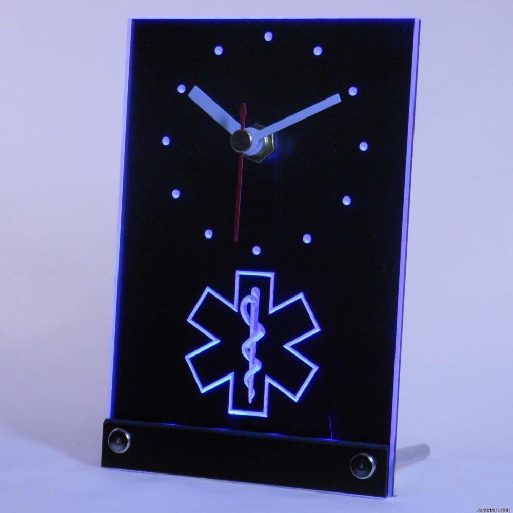 Tnc0088 EMS парамедик Спецодежда медицинская услуги стол 3D светодиодный часы