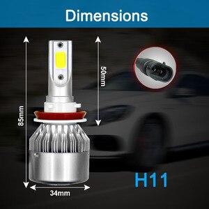 Image 5 - Bombillas de coche LED de 72W COB 9003 K, 2 uds., H4 H7 880 HB2 H11, H1 H3 H8 H9 9005 H27 9006 9004 HB4 H13 9007 6000