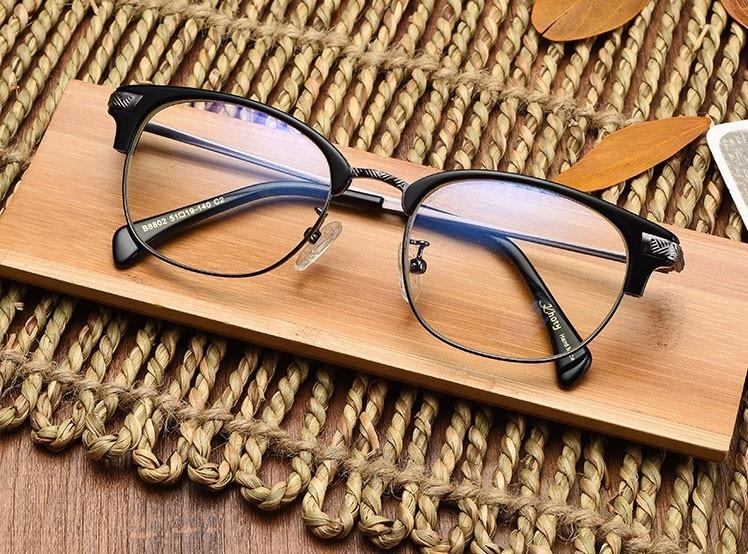 Japanese Half Frame Glasses : KHOTY Japanese hand made sheet metal half frame glasses ...