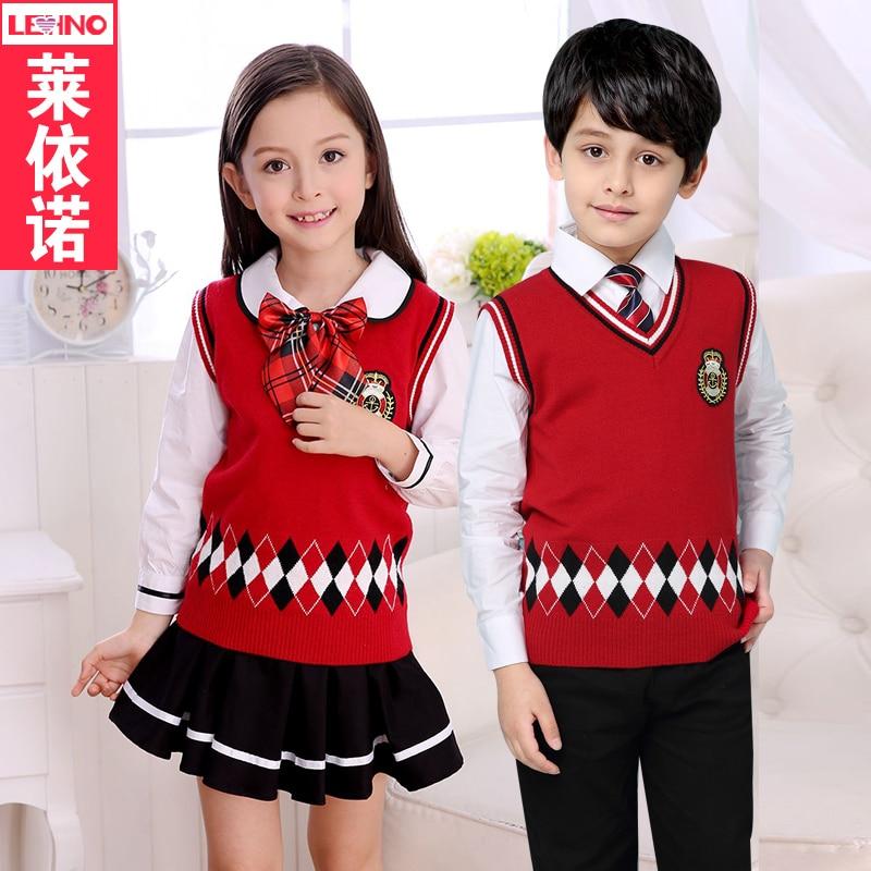 Brand Lehno Autumn  Spring Boysgirls School Uniforms -4106
