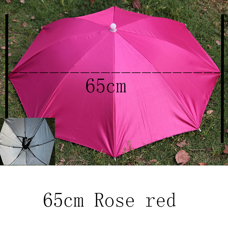 8 Bone 50 CM Fishing Cap Umbrella Rain Women uv Sunny And Rainy Umbrella For Wom