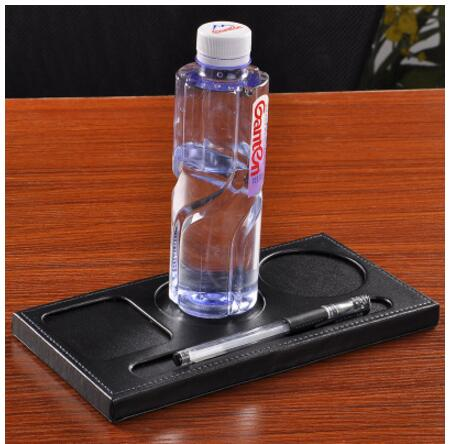 PU Leather Three Hole Conference Room Table Matin Tablecloths From - Conference room table mats