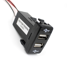 Автомобильное зарядное устройство 12V 5V 3.3A с двумя портами usb для TOYOTA VIGO LKQ0214