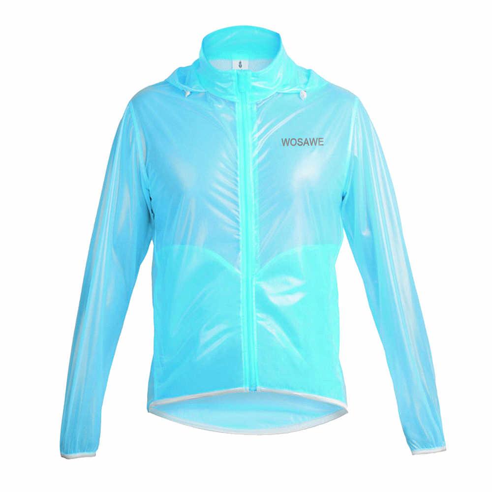Wosawe Outdoor Sport Waterdicht Winddicht Regen Jas Fietsen Jassen Fiets Running Jersey Ultralight Grijs/Blauw/Groen