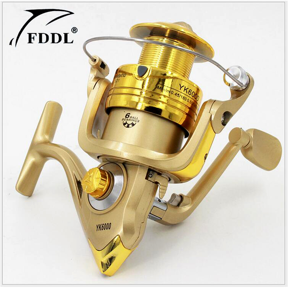 Hot sale spinning reel fishing reel yk1000 yk6000 6bb 5 for Fishing rods and reels for sale used