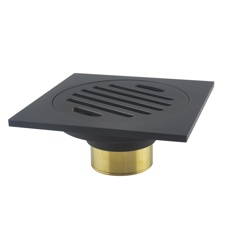 New Arrival Brass Matte Black 100*100mm Square Style Floor