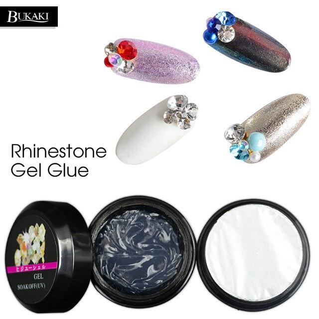 BUKAKI UV Nail Polski Nail Art Narzędzie Glitter Diament Przejrzyste Bardzo Lepki Klej Kleje Rhinestone