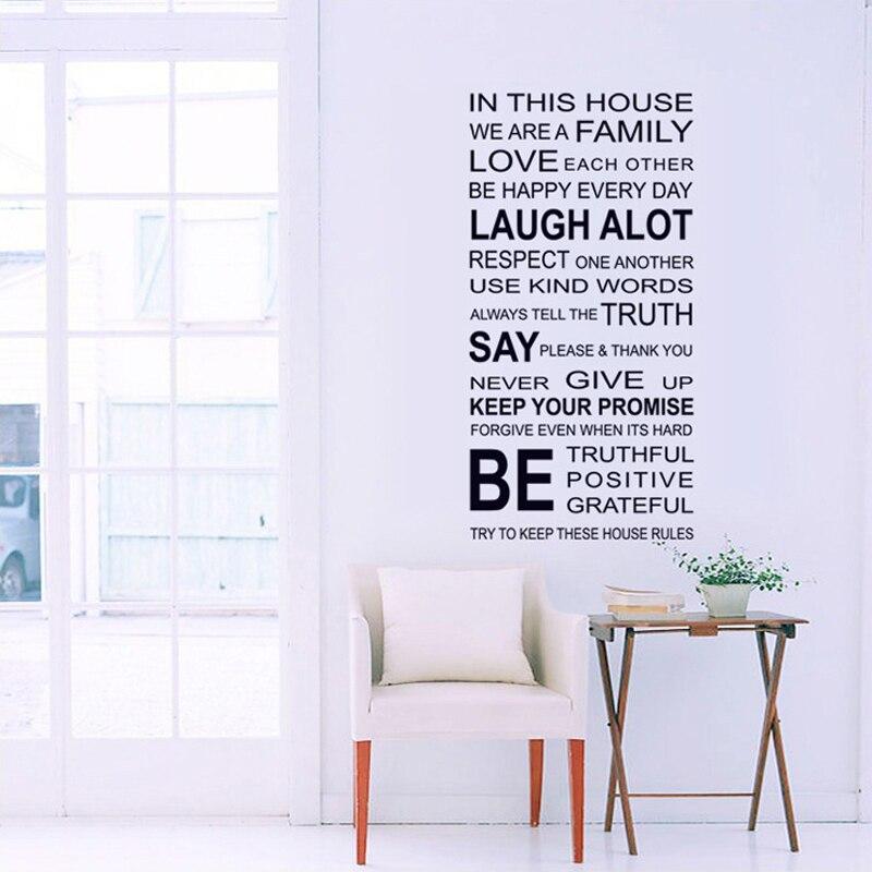 Английские пословицы, DIY настенные стикеры семейные дома наклейка
