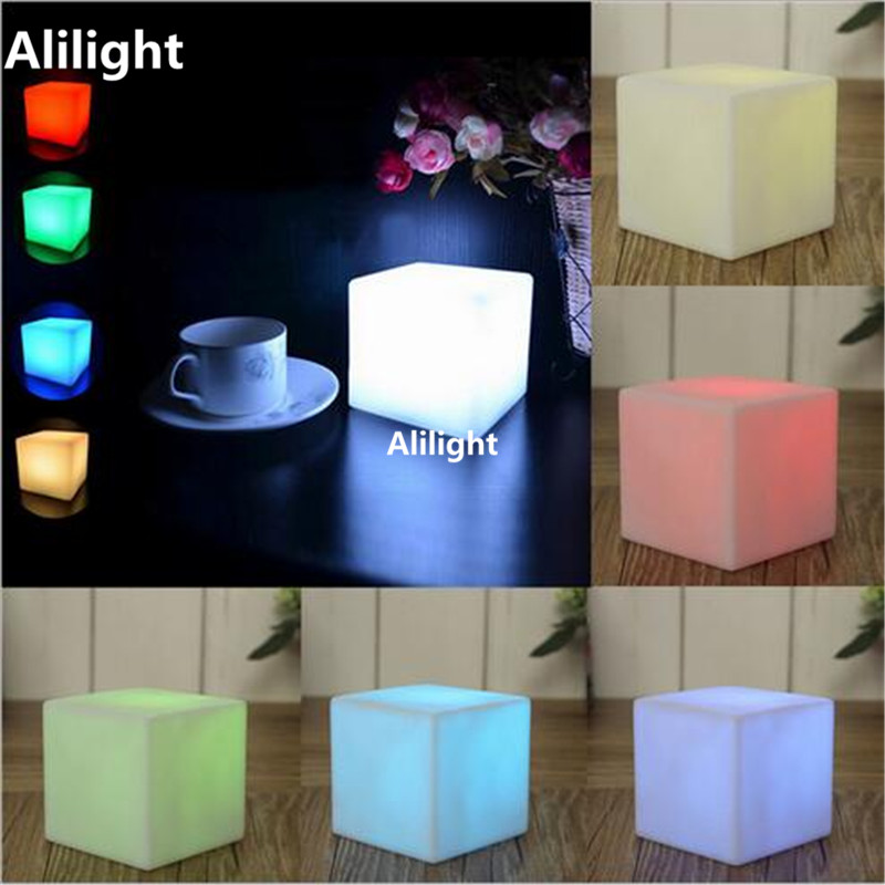 LED Wireless Night Light RGB Warm White Night Lamp Battery Powered Light  Emergency Lamp Art Decor