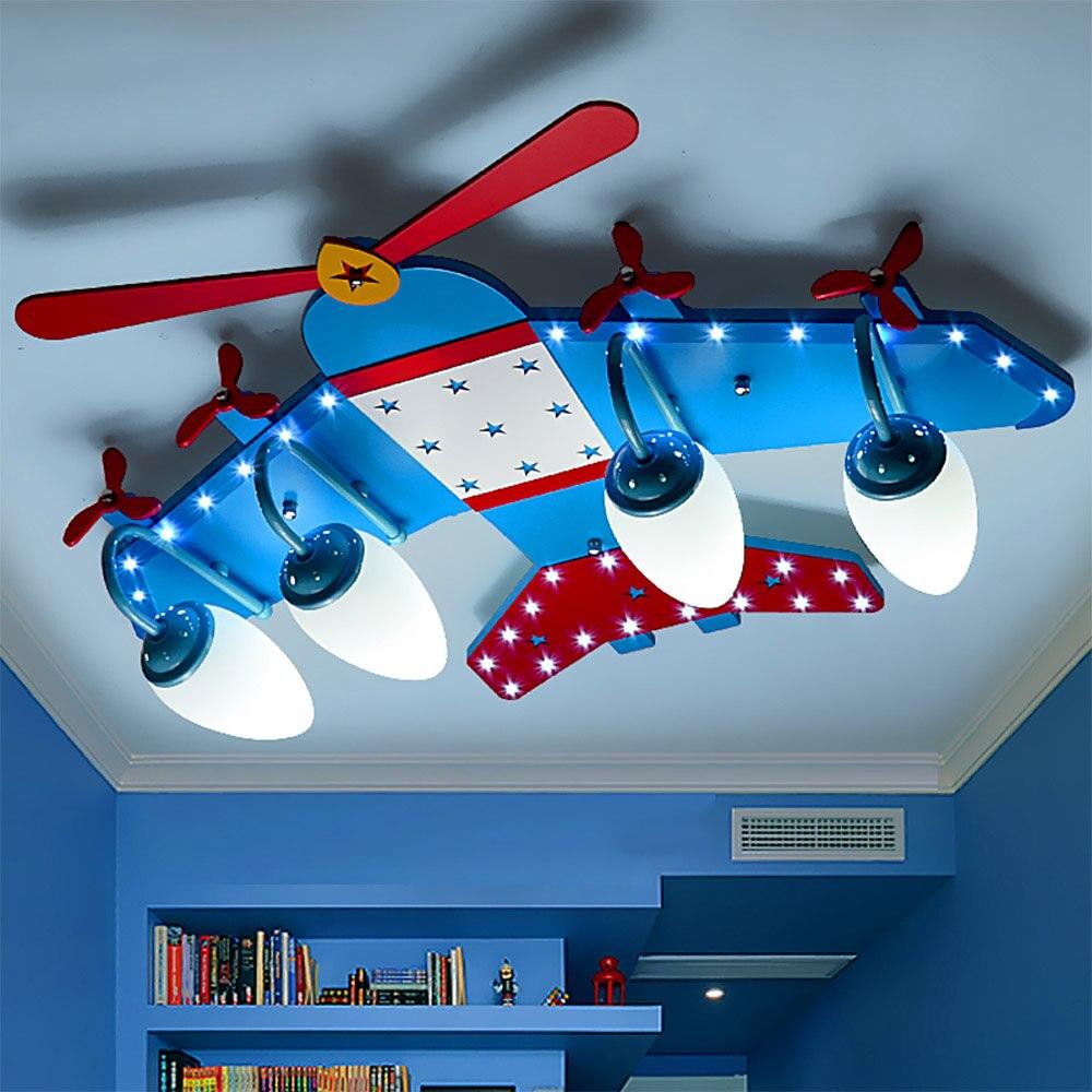 110V 220V E14 Boy room led ceiling light Modern Kids Children Lights Bedroom Fixtures Acrylic Airplane Kids Lights Ceiling Lamp