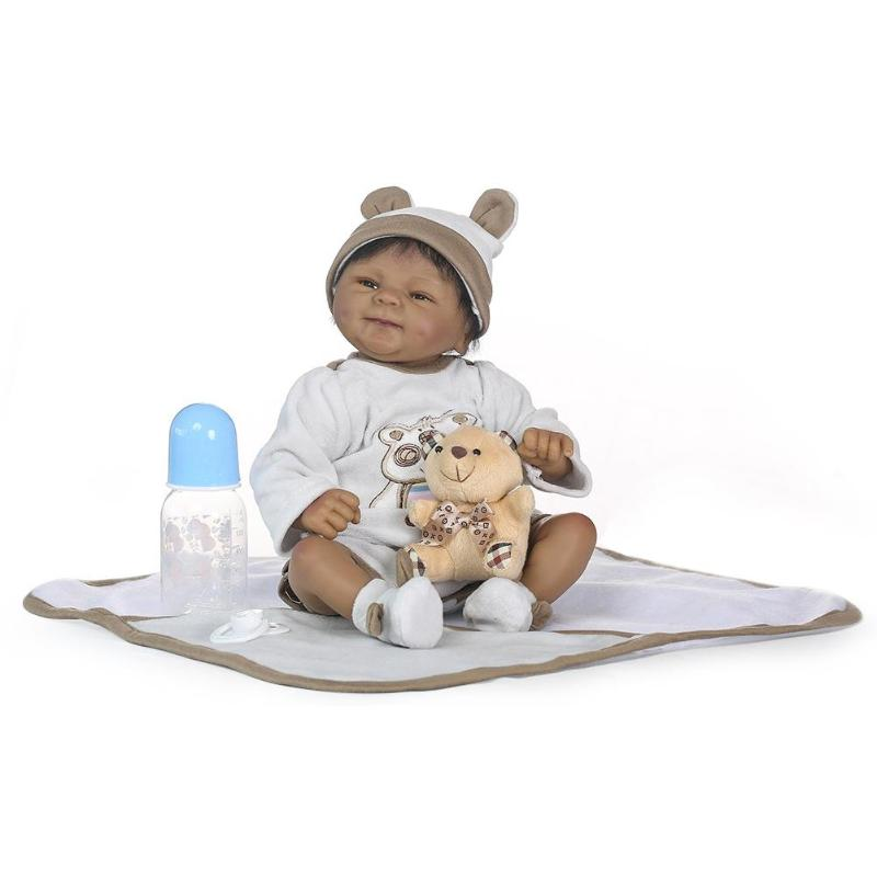 Soft Silicone Simulation Reborn Baby Dolls Bear Artificial Infant Toys Baby Photograph Props Kids Toy Soft Silicone Simulation Reborn Baby Dolls Bear Artificial Infant Toys Baby Photograph Props Kids Toy