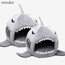 2017 Novelty Soft Dog Cat Bed Shark Mouse Shape Washable house Pet Sleeping With Removable Cushion free shipping